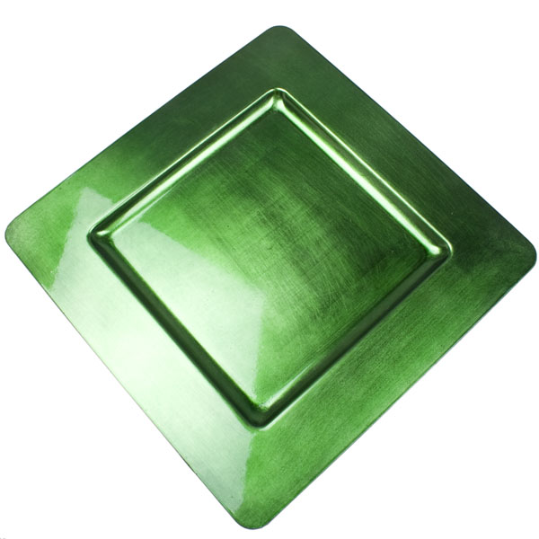 Standard Green Square Charger Plate - 33cm x 33cm
