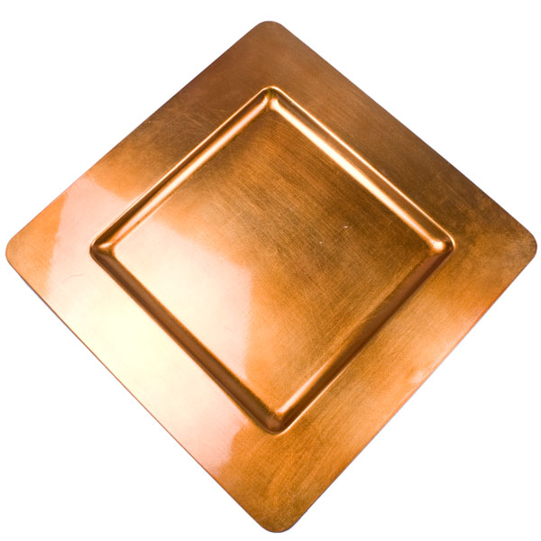 Standard Orange Square Charger Plate - 33cm x 33cm