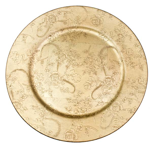 Charming Gold Disposable Charger Plates Images - Best Image Engine ...