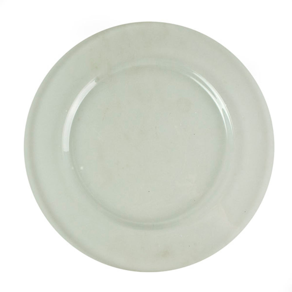 Translucent Clear Plain Glass Charger Plates - 32cm