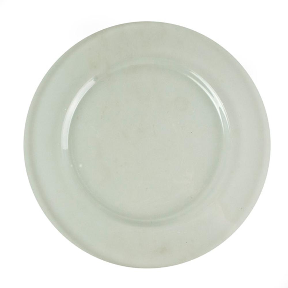 Translucent Clear Plain Glass Charger Plates - 32cm