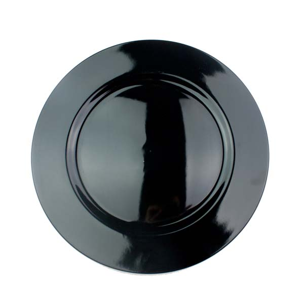 Standard Black Round Charger Plate - 33cm
