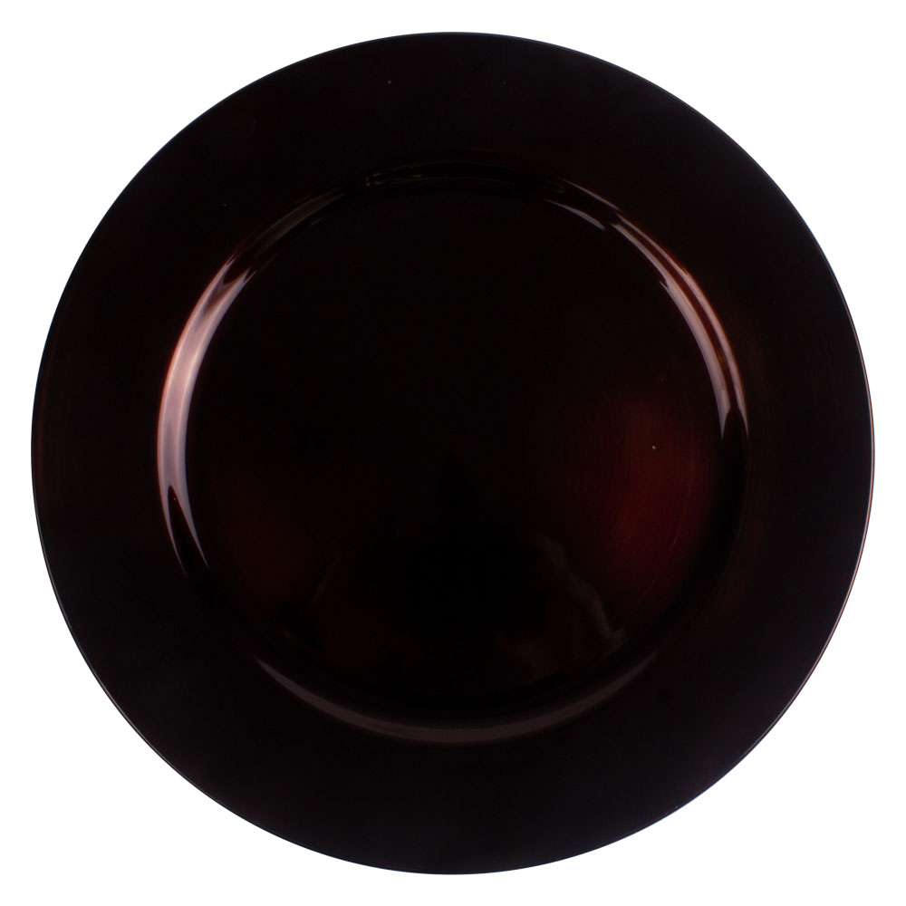 Standard Brown Round Charger Plate - 33cm