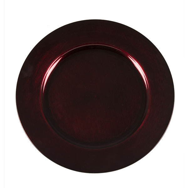 Standard Dark Red Round Charger Plate - 33cm