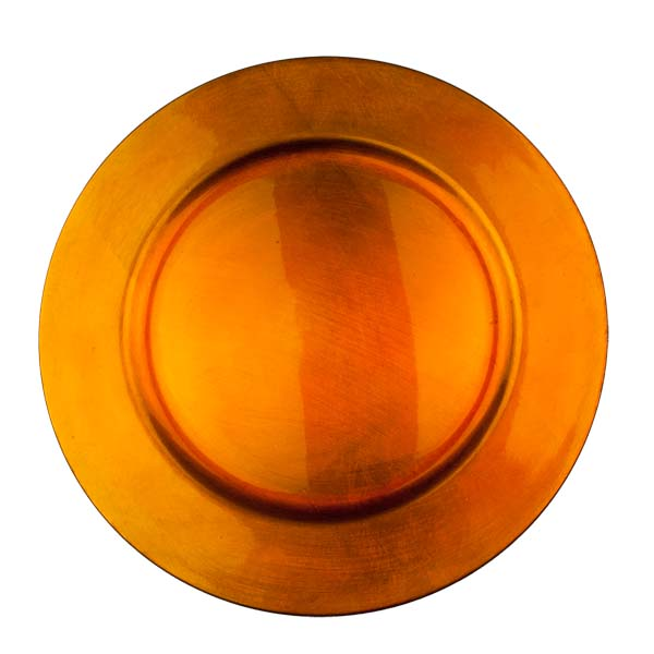 Standard Orange Round Charger Plate - 33cm