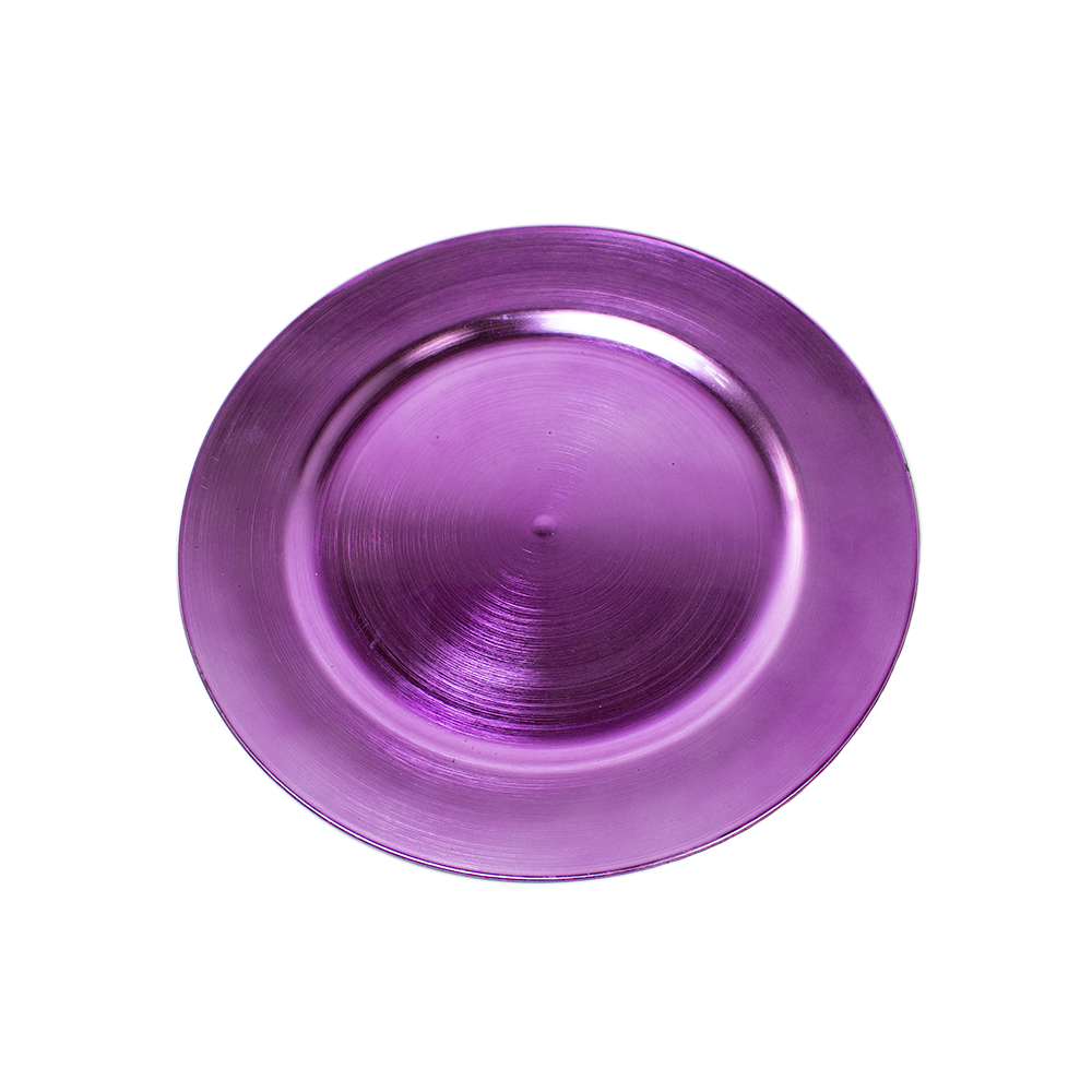 Standard Pale Purple Round Charger Plate - 33cm
