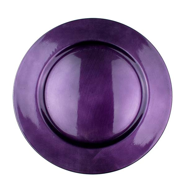 Standard Purple Round Charger Plate - 33cm