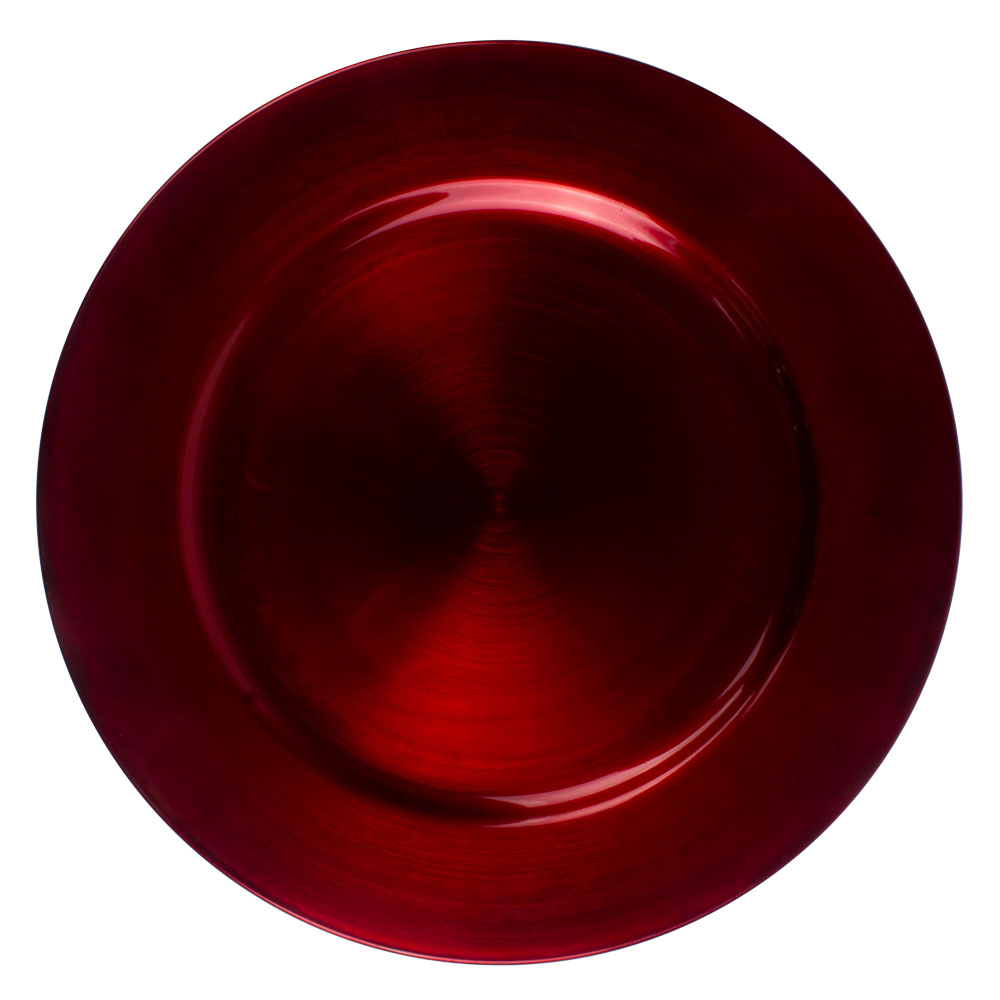 Standard Red Round Charger Plate - 33cm