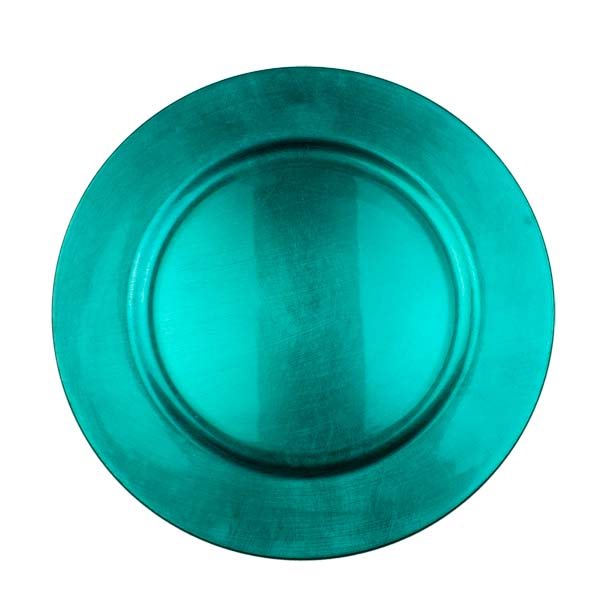 Standard Turquoise Round Charger Plate - 33cm