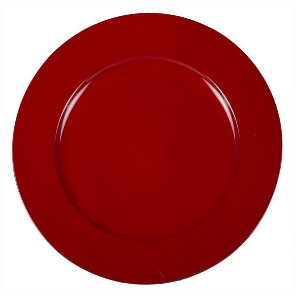 Standard Red Round Matt Charger Plate - 33cm