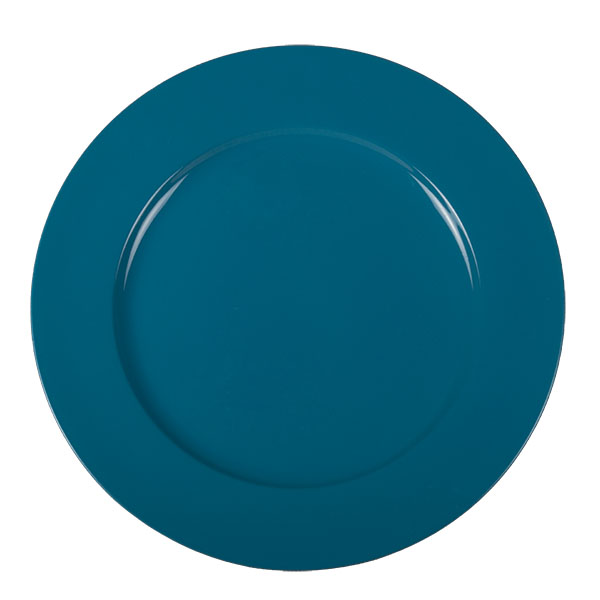 Standard Turquoise Round Matt Charger Plate - 33cm