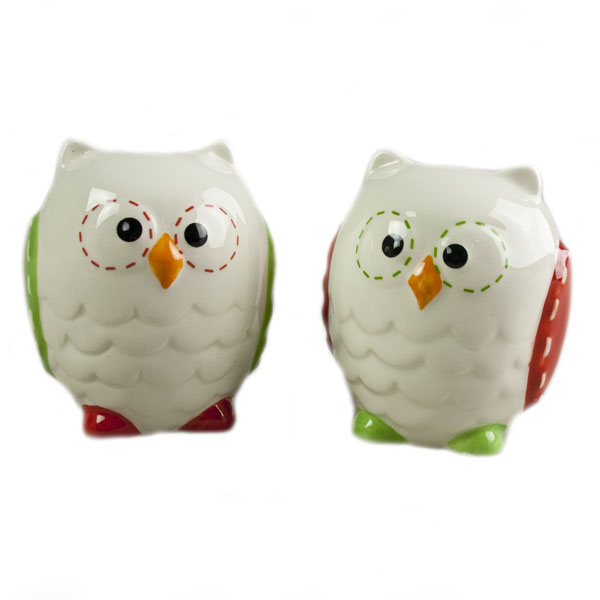Owl Shaped Salt And Pepper Set - 7cm
