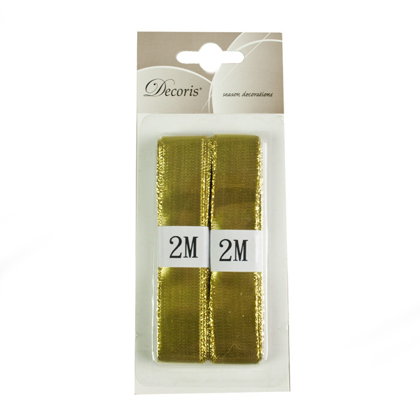 Gold Decorating Ribbon - 2 x 2m