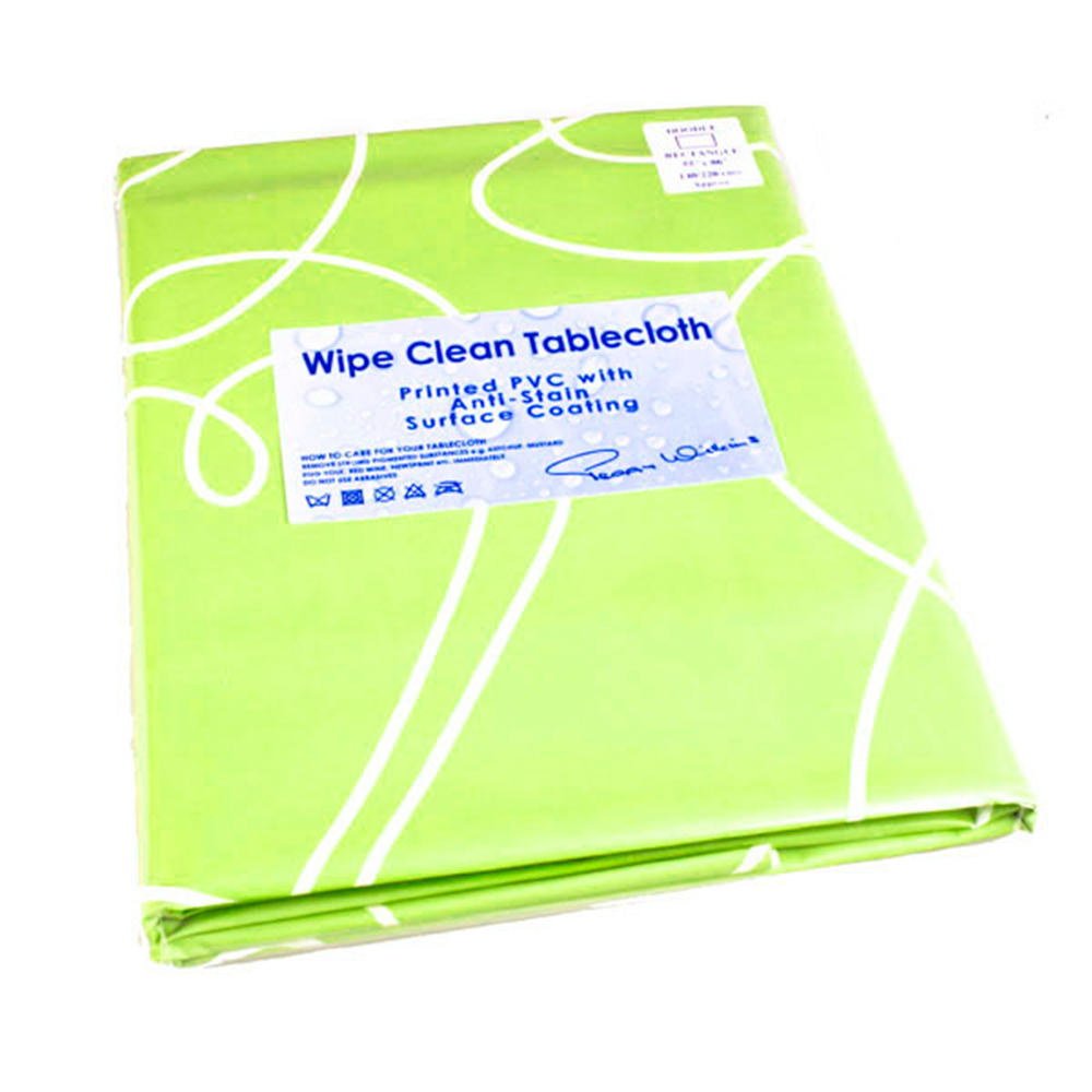 Peggy Wilkins Doodle Sage Wipe Clean Tablecloth