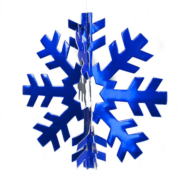 Blue  3D Display Snowflake - 70cm