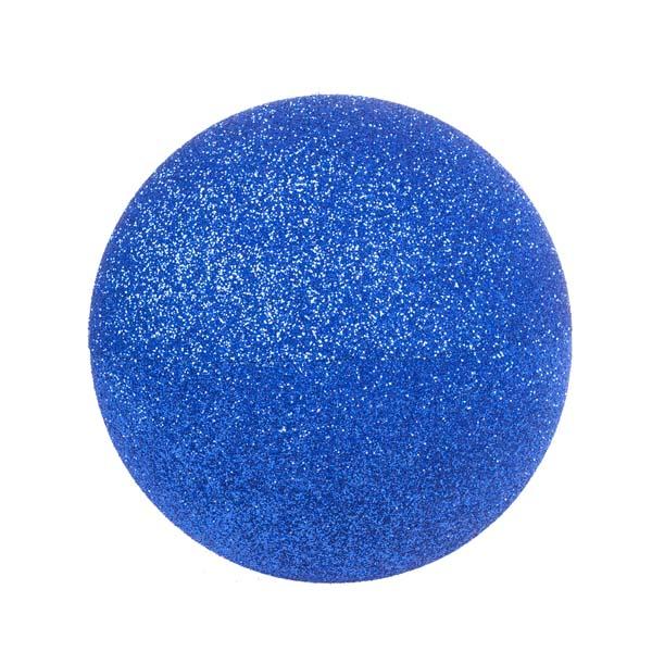 Blue Glitter Polystyrene Bauble - 40cm