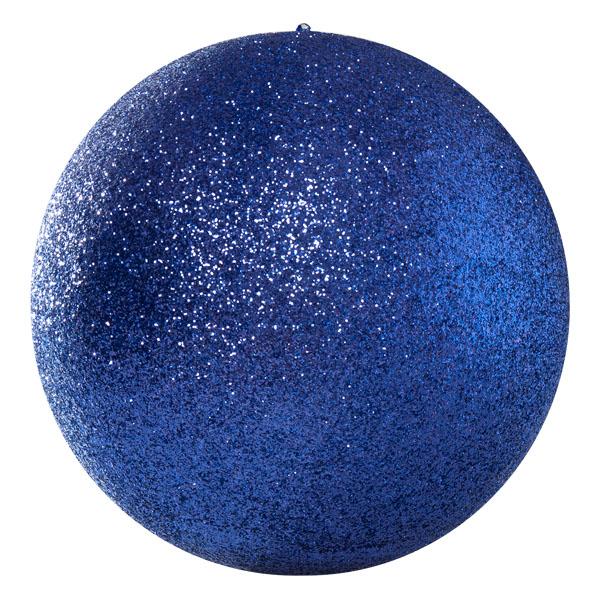 Purple Glitter Polystyrene Bauble - 40cm