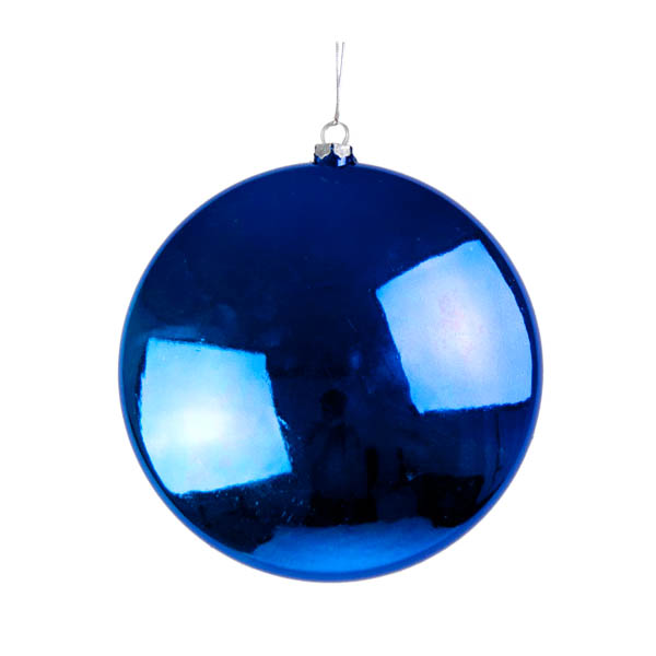 Blue Disc Hanging Decoration - 20cm