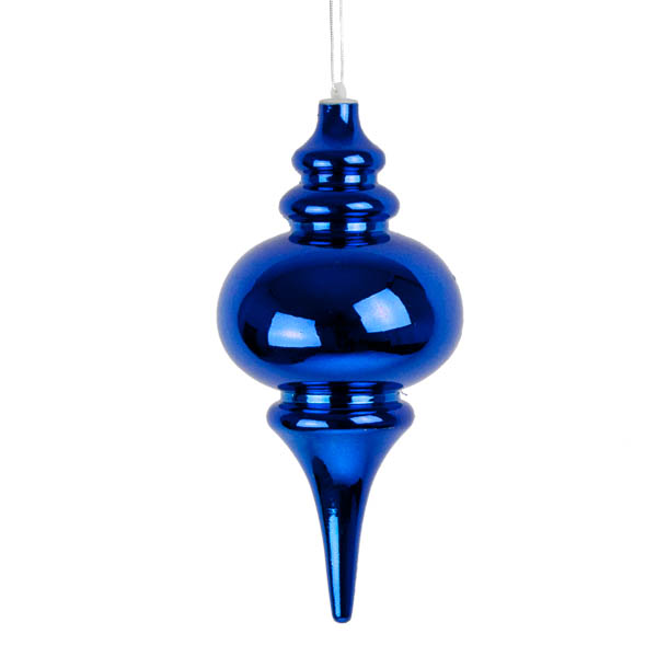 Blue Finial Hanging Decoration - 25cm