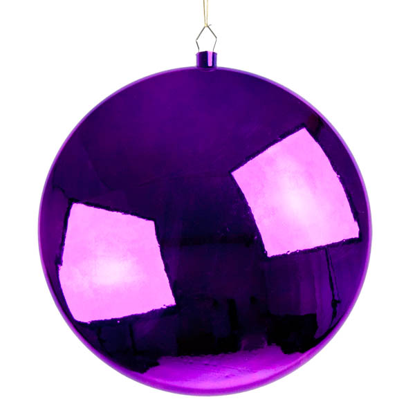 Purple Disc Hanging Decoration - 30cm
