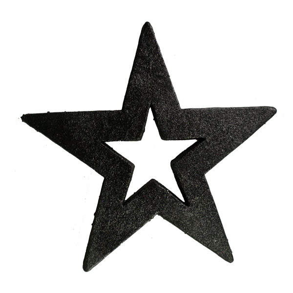 Five Point Hanging Black Display Star - 50cm