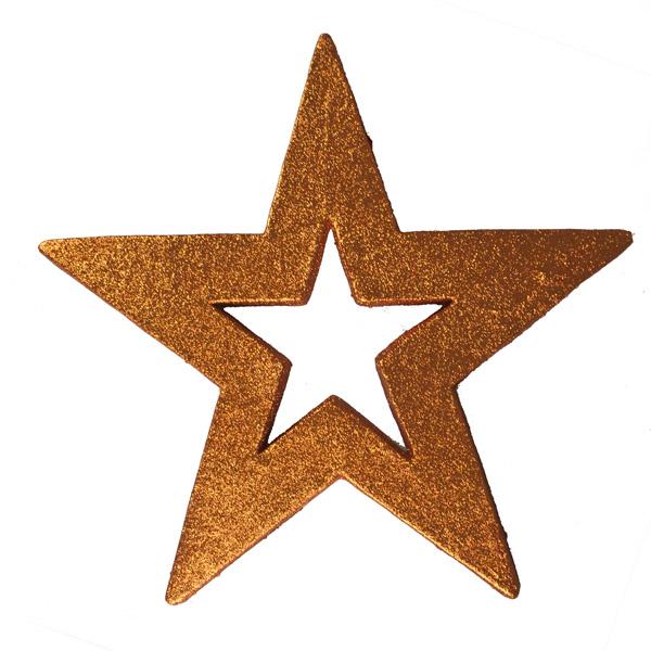 Five Point Hanging Orange Display Star - 50cm