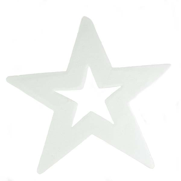Five Point Hanging White Display Star - 50cm