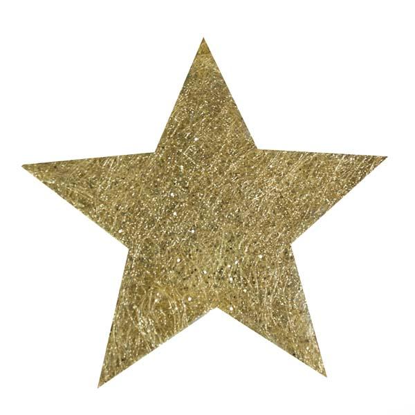 Gold Glittering Sisal Display Star Decoration - 40cm