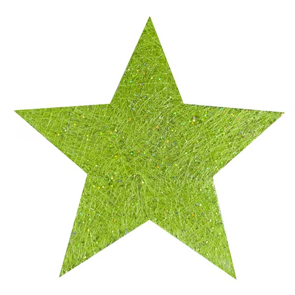 Green Glittering Sisal Display Star Decoration - 40cm