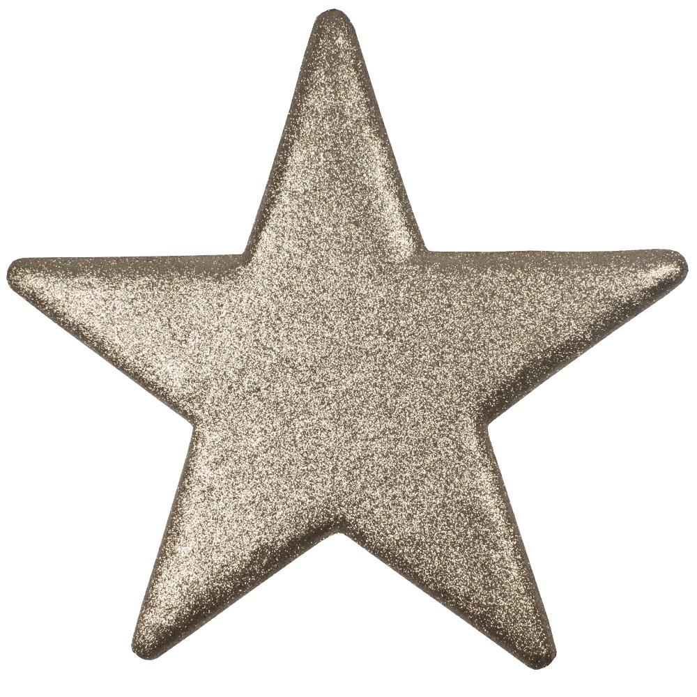 40cm Glitter Display Star Hanger - Champagne Gold