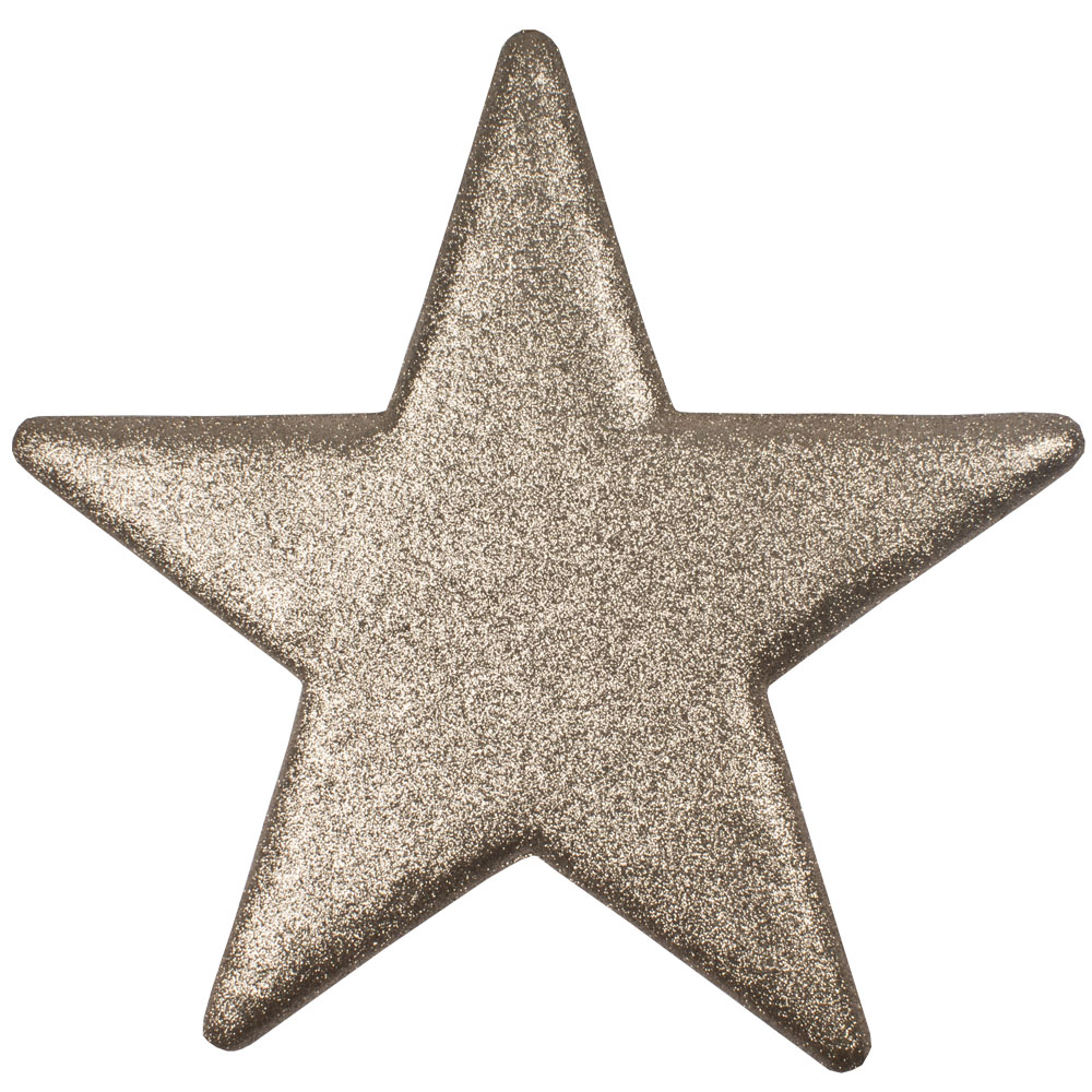 50cm Glitter Display Star Hanger - Champagne Gold