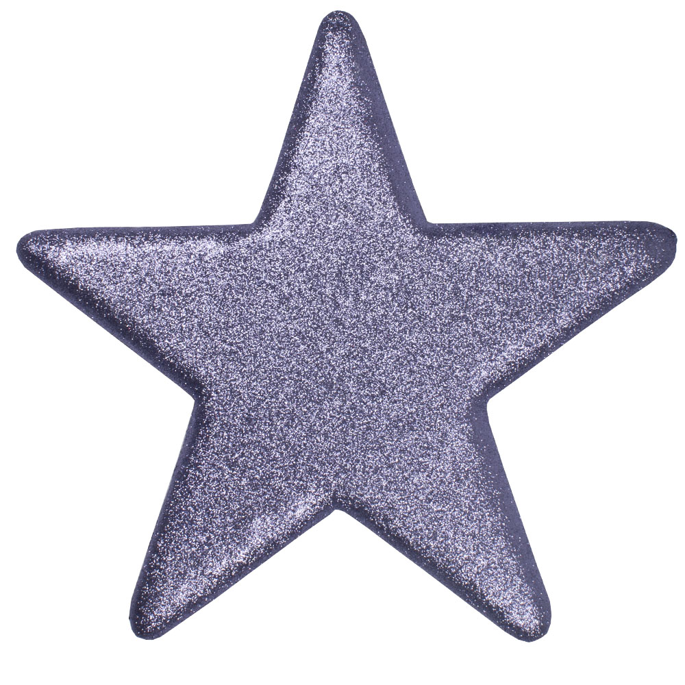 25cm Glitter Display Star Hanger - Purple Haze