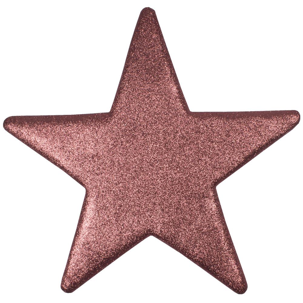 25cm Glitter Display Star Hanger - Pink