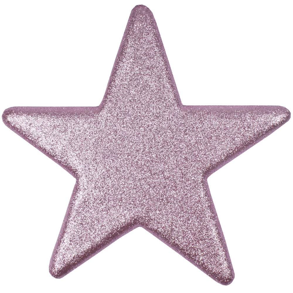 25cm Glitter Display Star Hanger - Rose Blush