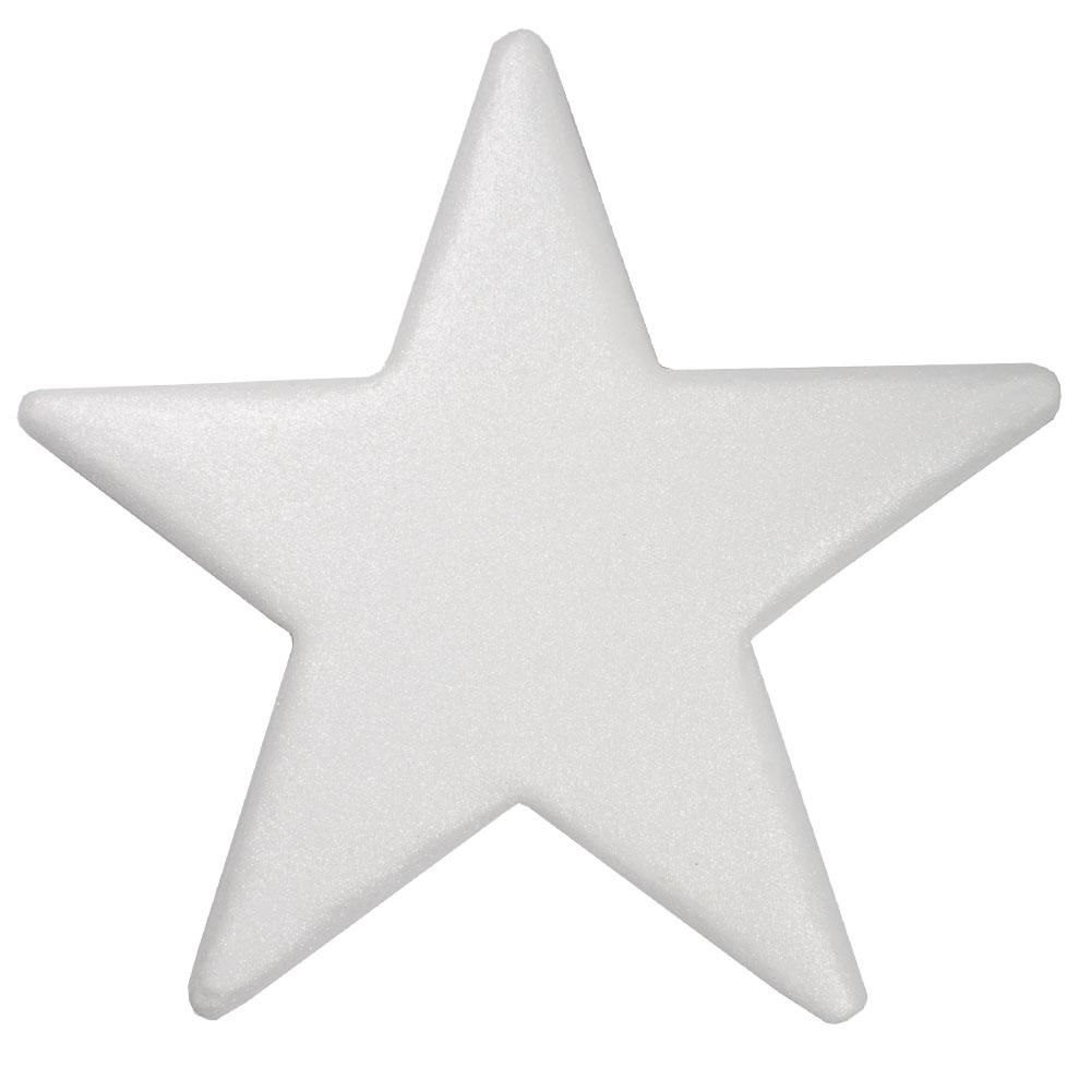 25cm Glitter Display Star Hanger - White