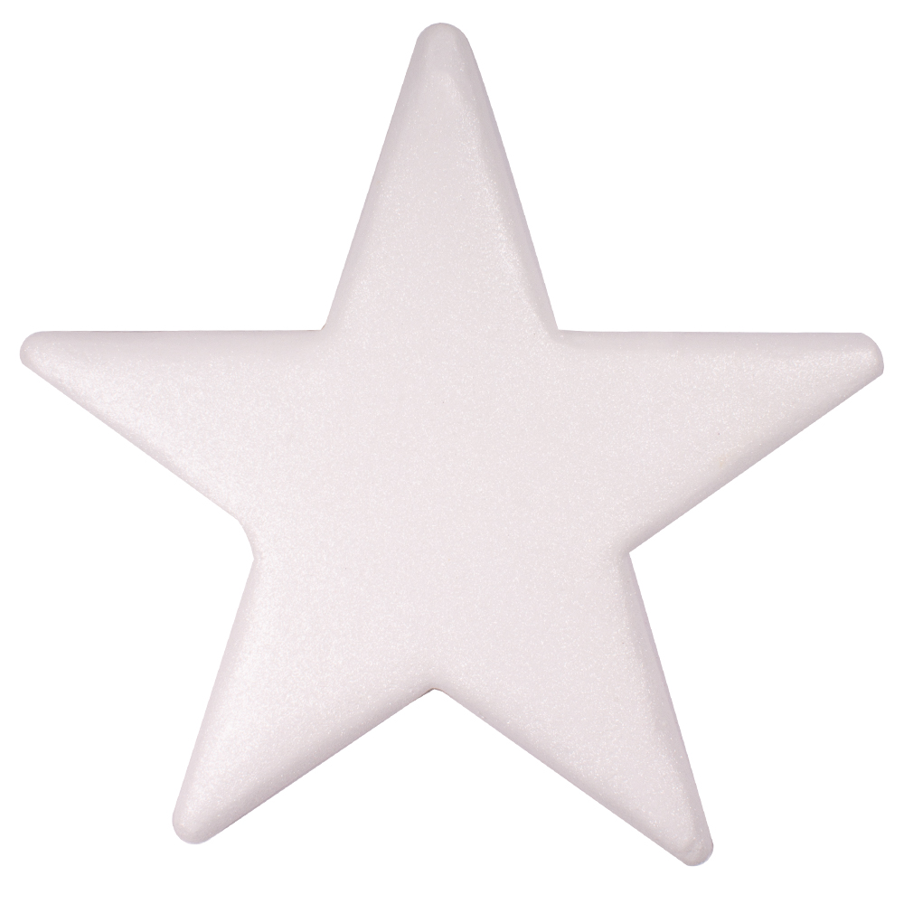 50cm Glitter Display Star Hanger - White