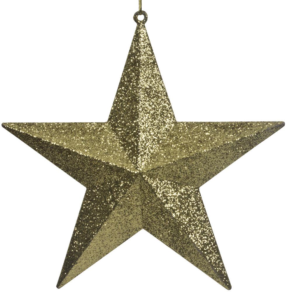 5 Point Gold Glitter Star - 40cm
