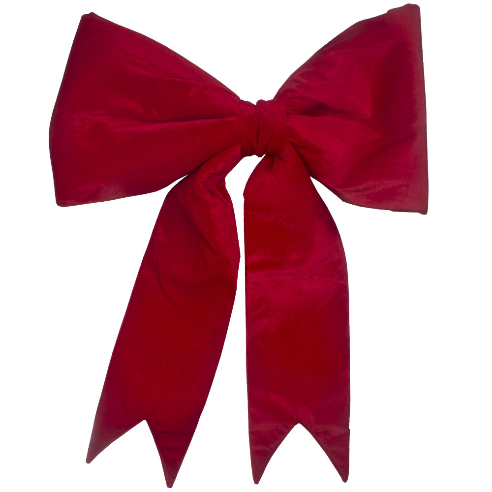 Red Fabric Display Bow - 45cm
