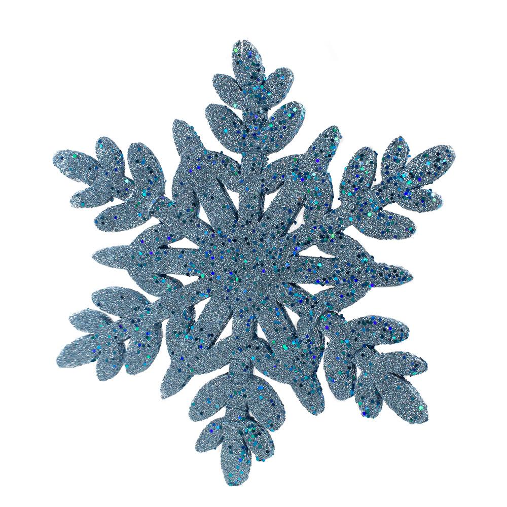 Pale Blue Glitter Finish Display Snowflake - 30cm