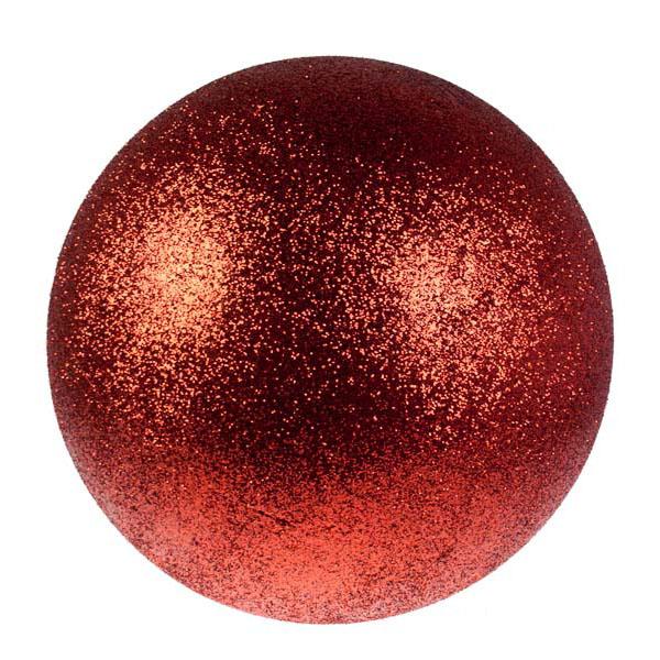 Burnt Red Glitter Polystyrene Bauble - 50cm