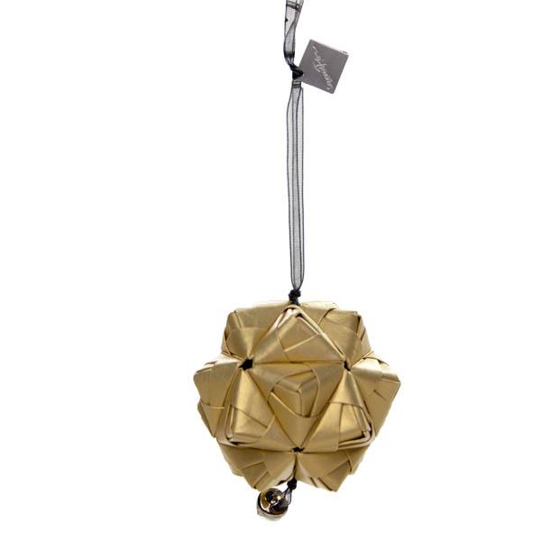 Squared Rose Sonobe Hanging Decoration - Precious Metals Design - Real Gold