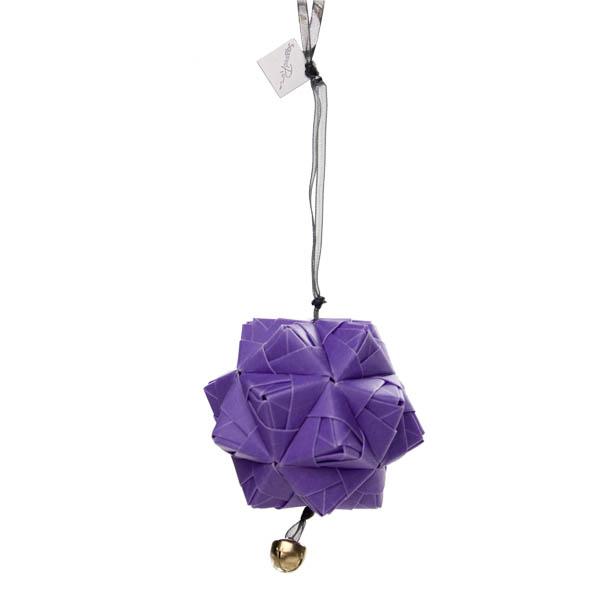 Squared Rose Sonobe Hanging Decoration - Translucent Design - Purple