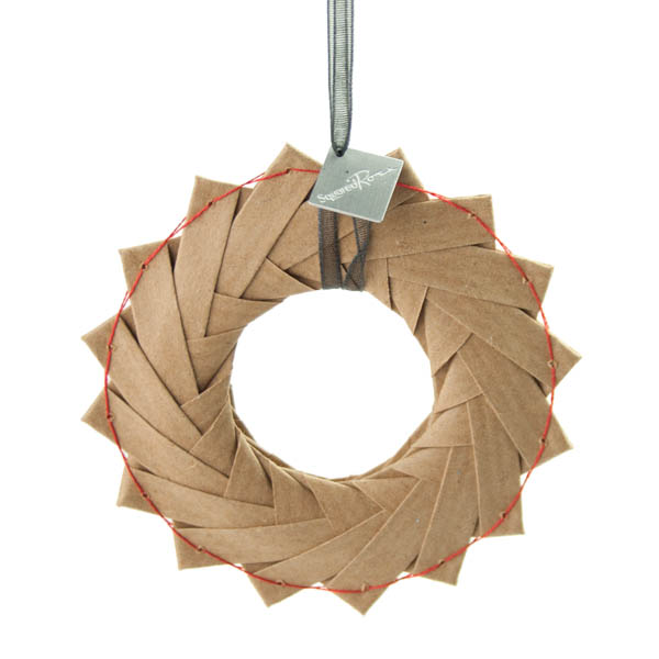 Squared Rose Origami Wreaths- Kraft Paper 8cm