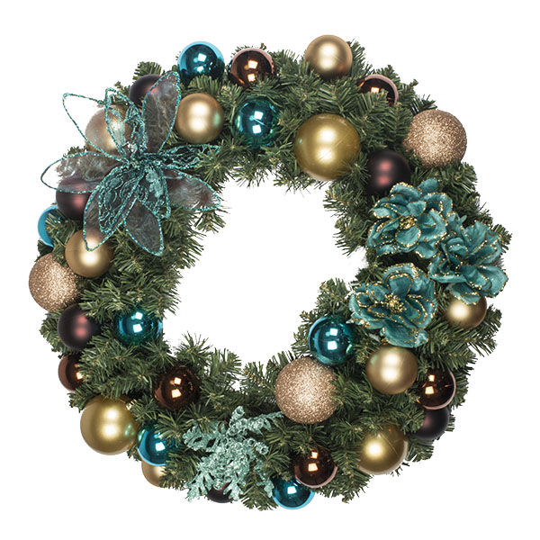 Cinnamon Ice Theme Range - 60cm Pre-Decorated Wreath