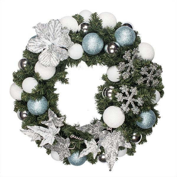 Jack Frost Theme Range - 60cm Pre-Decorated Wreath