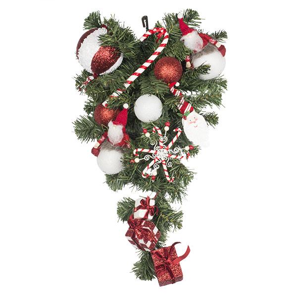 Santa Suit Theme Range - 60cm Pre-Decorated Teardrop