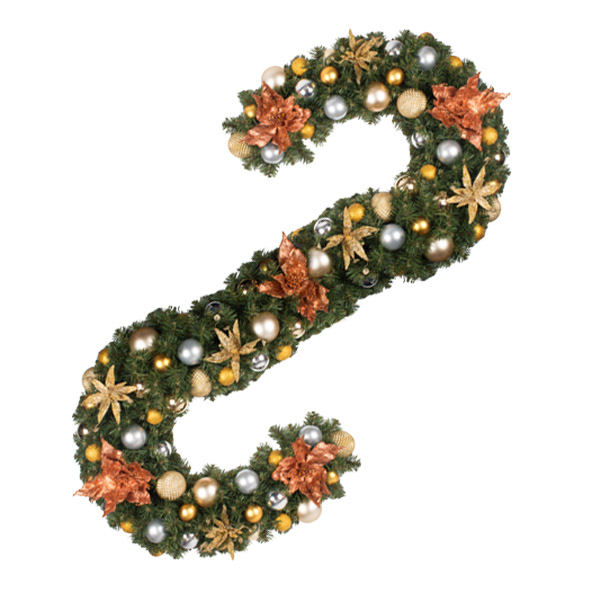 Precious Metals Theme Range - 2.7m x 35cm Pre-Decorated Garland