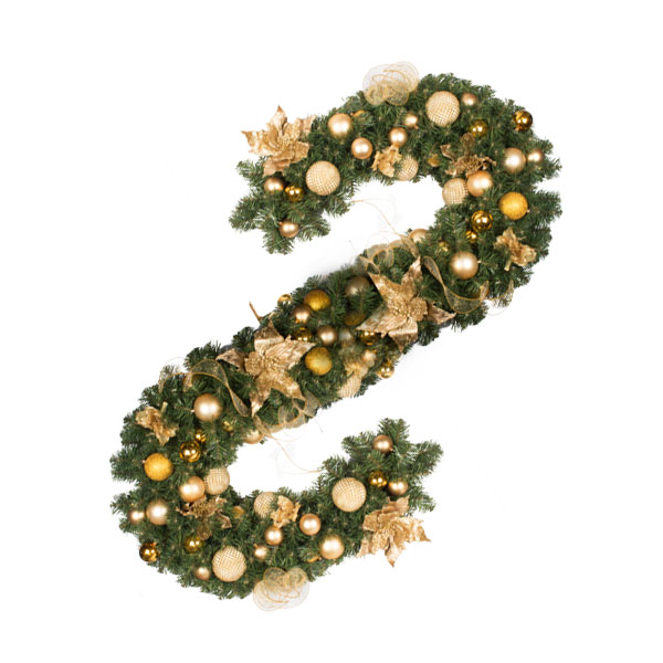 Pure Gold Theme Range - 2.7m x 35cm Pre-Decorated Garland