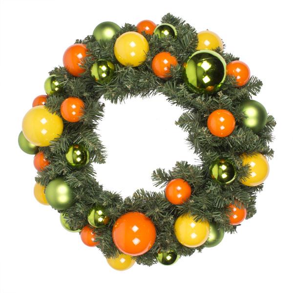 Citrus Burst Theme Range - 60cm Pre-Decorated Wreath