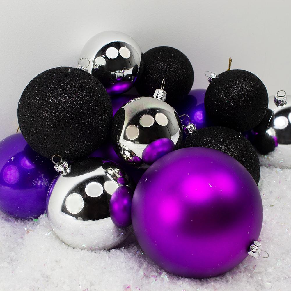 Bauble Pack - Purple Silver Black Baubles